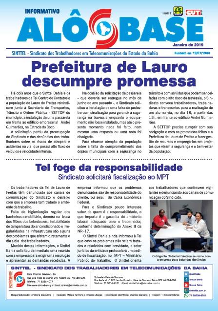 Prefeitura de Lauro descumpre promessa e Sinttel convoca ato para sexta (18)
