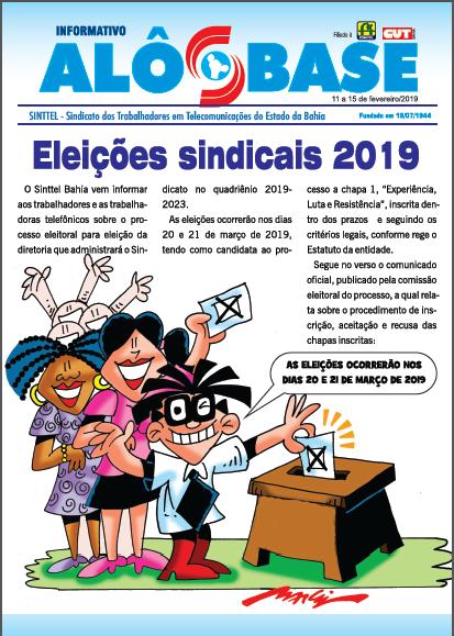 Eleições Sinttel 2019 - Chapa única