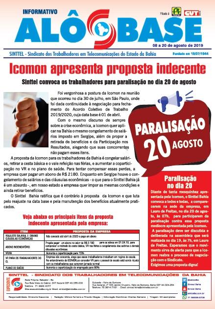 Icomon apresenta proposta indecente