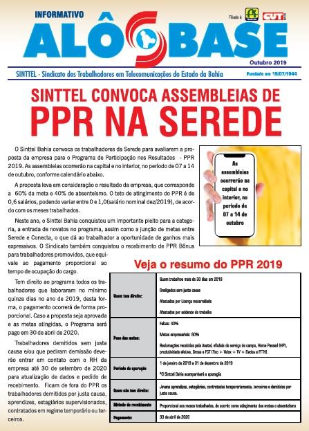 Sinttel convoca assembleias de PPR na Serede