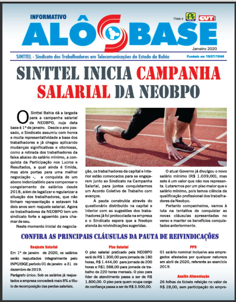 Sinttel inicia campanha salarial da Neobpo