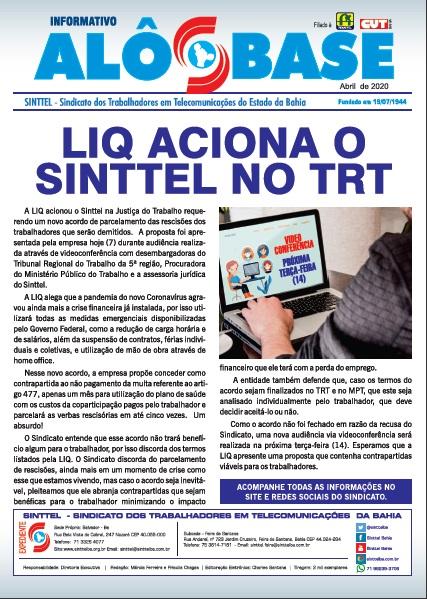 LIQ aciona Sinttel no TRT