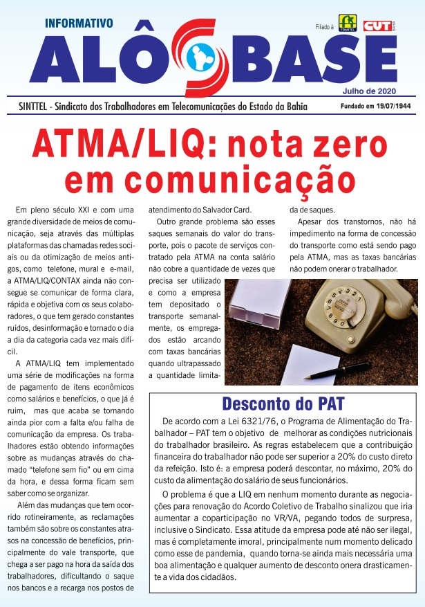 ATMA/LIQ: nota zero em comunicação