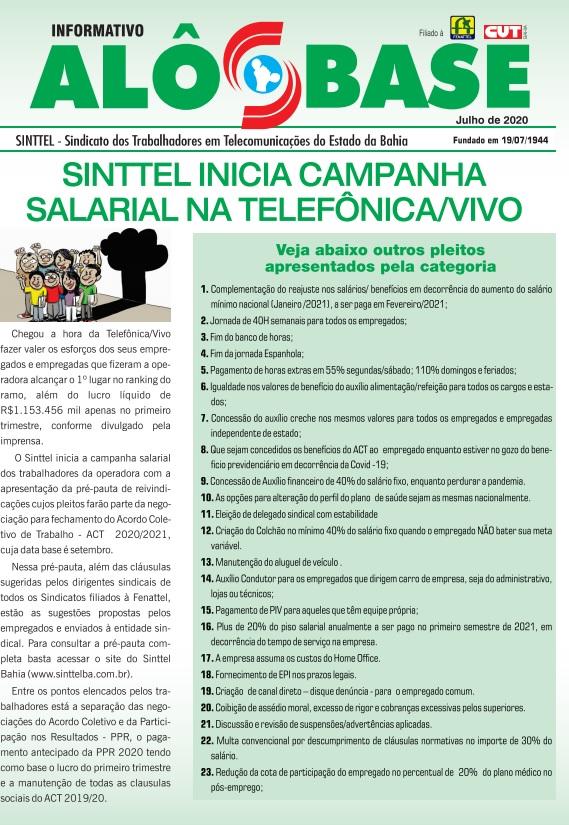 Sinttel inicia campanha salarial na Telefônica/Vivo