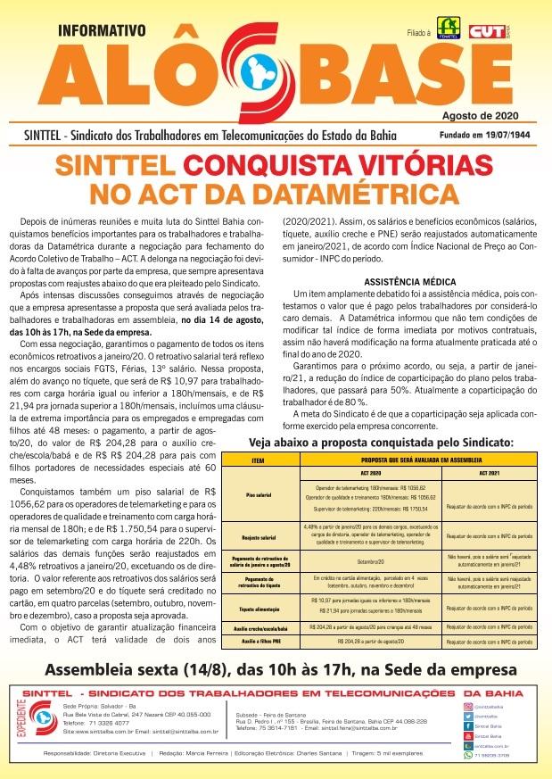 Sinttel conquista vitórias no ACT da Datamétrica