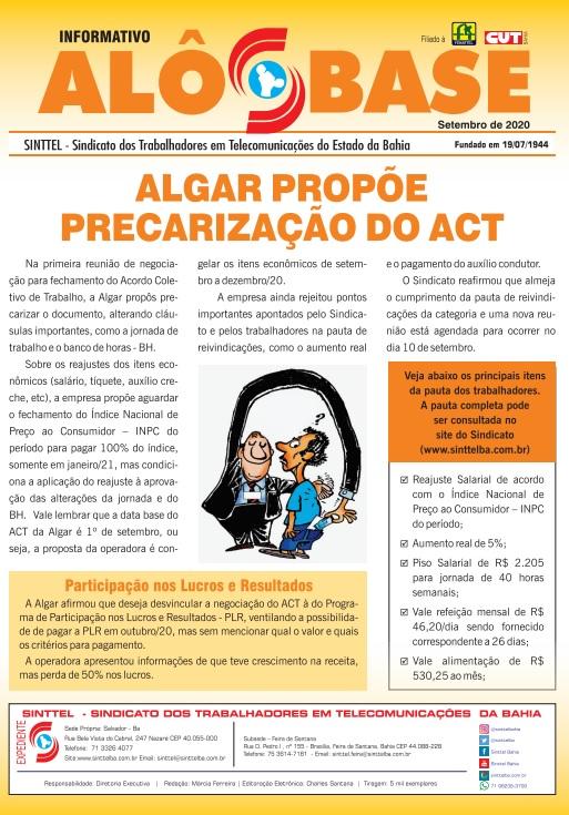 Algar propõe precarização do Acordo Coletivo de Trabalho