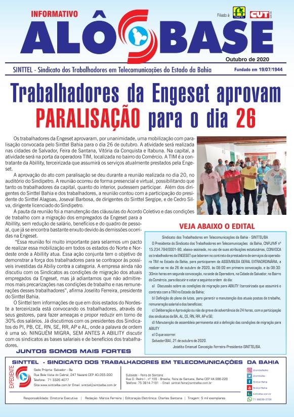 Trabalhadores da Engeset aprovam paralisação para o dia 26