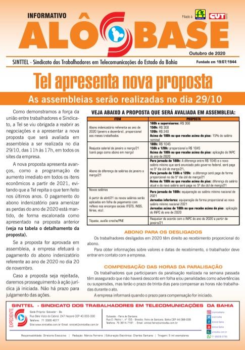 Tel apresenta nova proposta: As assembleias serão realizadas no dia 29/10
