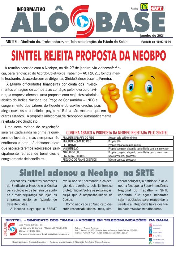 Sinttel rejeita proposta da Neobpo