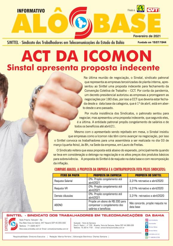 Sinstal apresenta proposta indecente para o ACT da Icomon