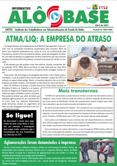 ATMA/LIQ: a empresa do atraso