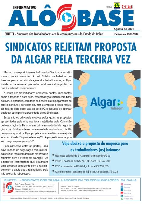 Sindicatos rejeitam proposta da Algar pela terceira vez