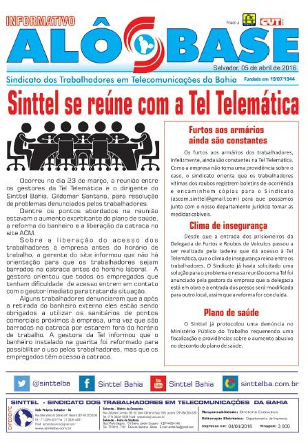 Sinttel se reúne com a Tel Telemática