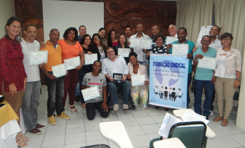 Dirigentes do Sinttel participam de curso de Gerenciamento  de Conflitos e Negociações Sindicais