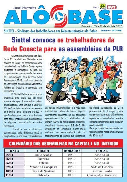 Sinttel convoca os trabalhadores da Rede Conecta para as assembleias da PLR