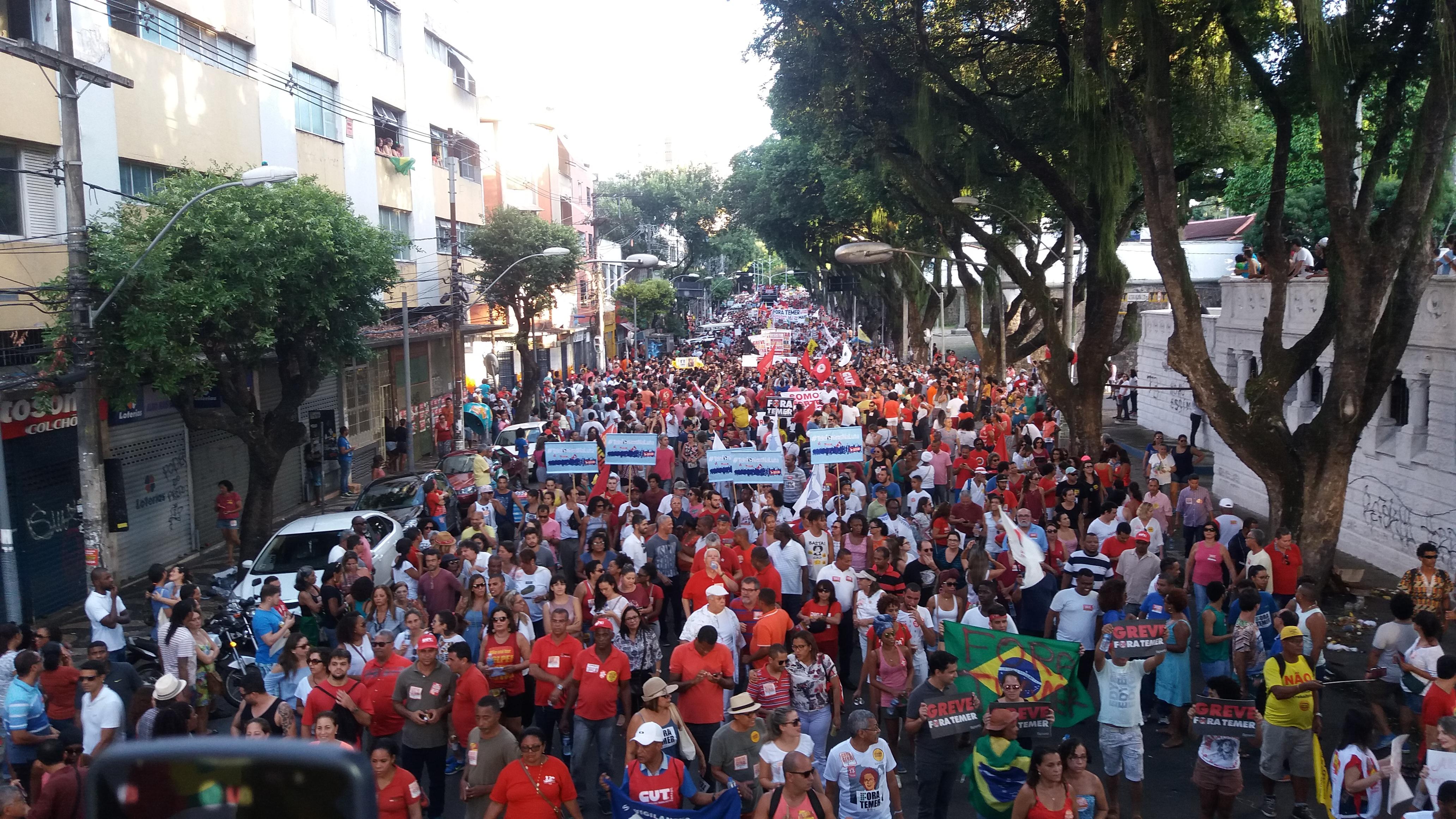 Greve Geral: Dirigentes do Sinttel mais 80 mil pessoas vão às ruas no dia 28