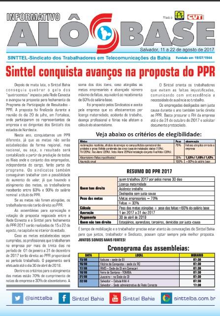 Sinttel conquista avanços da proposta do PPR da Rede Conecta