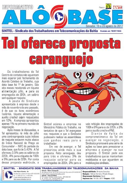 Tel oferece proposta caranguejo