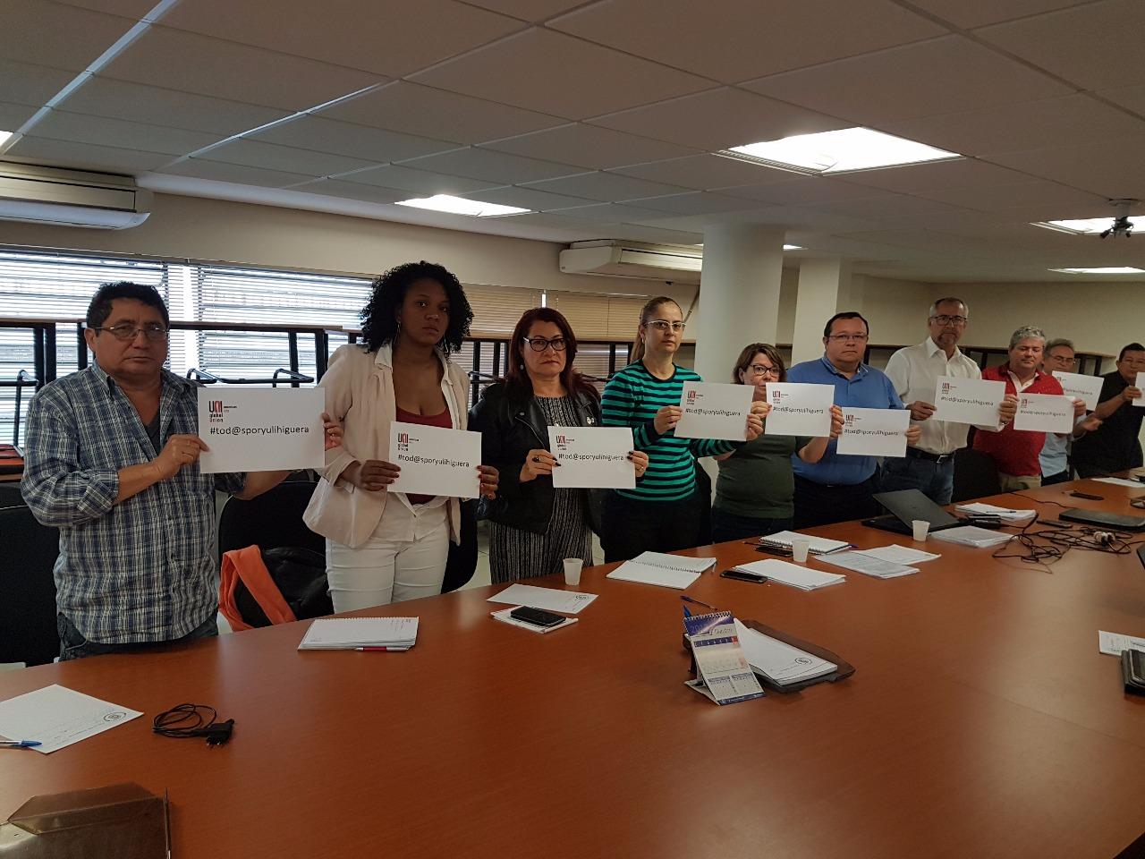 Sinttel e Fenattel se solidarizam com sindicalista colombiana e pedem apoio ao presidente da Claro