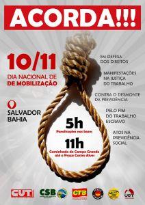 10/12: Dia de Mobilização Nacional contra a reforma trabalhista