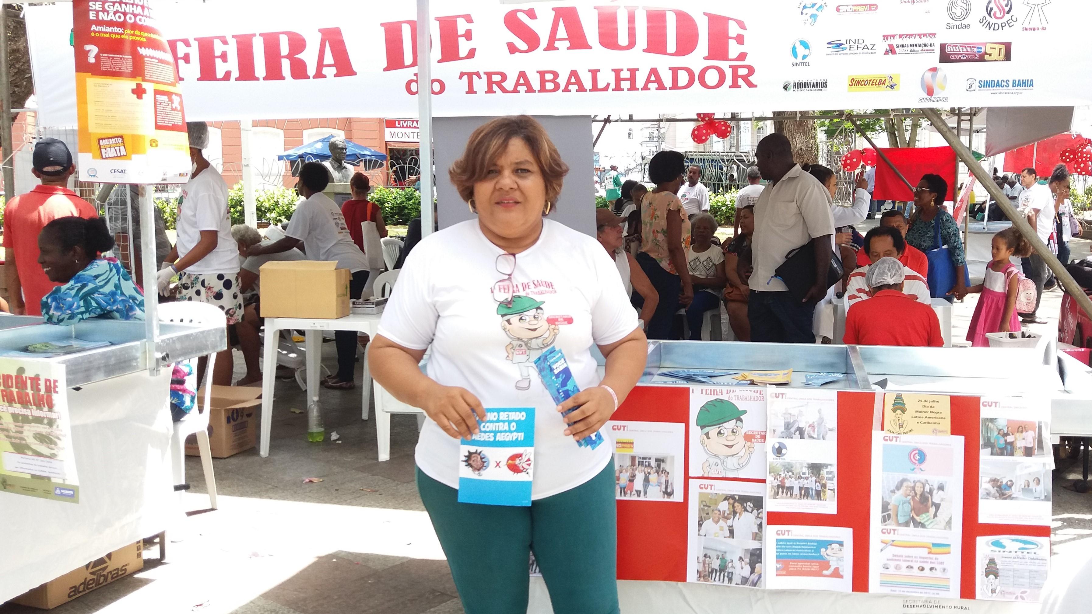 Dirigente do Sinttel Bahia promove feira de saúde para o trabalhador
