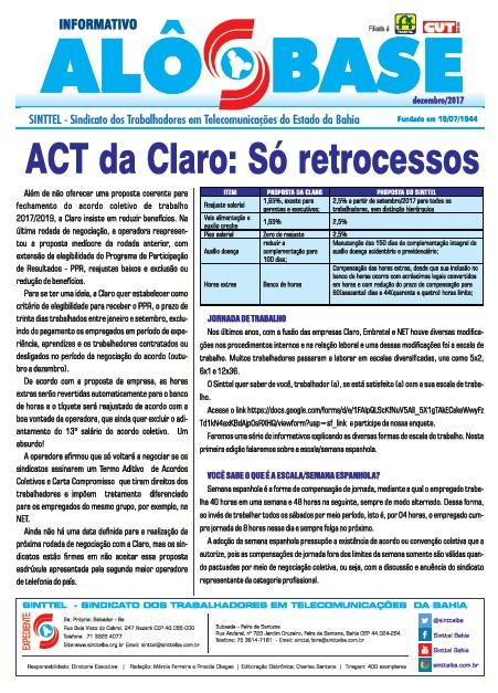 ACT da Claro: Só retrocessos