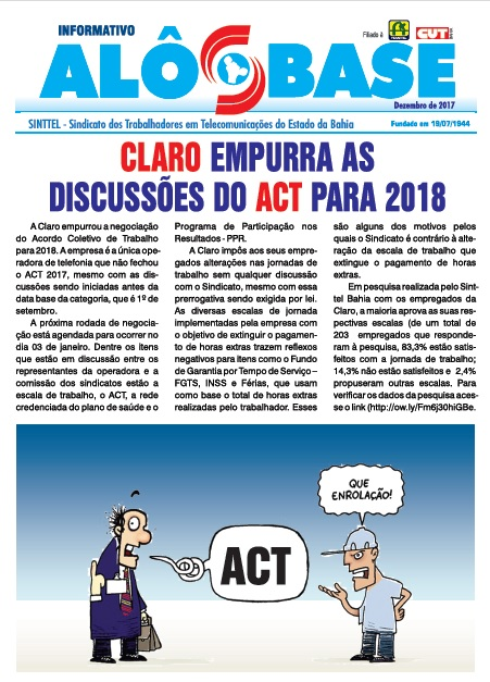 Claro empurra as discussões do ACT para 2018