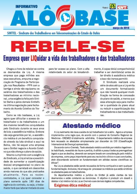 REBELE-SE:  Empresa quer LIQuidar a vida dos trabalhadores e das trabalhadoras