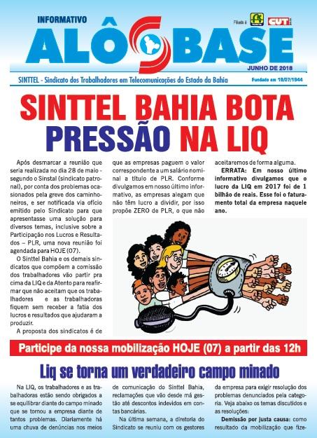 Sinttel Bahia bota pressão na LIQ