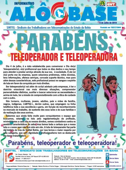 Sinttel  Bahia parabeniza teleoperadores(as)