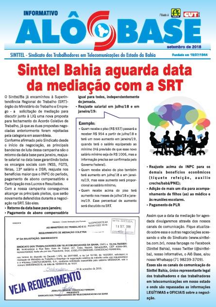 ACT da LIQ: Sinttel Bahia aguarda data da mediação com a SRT