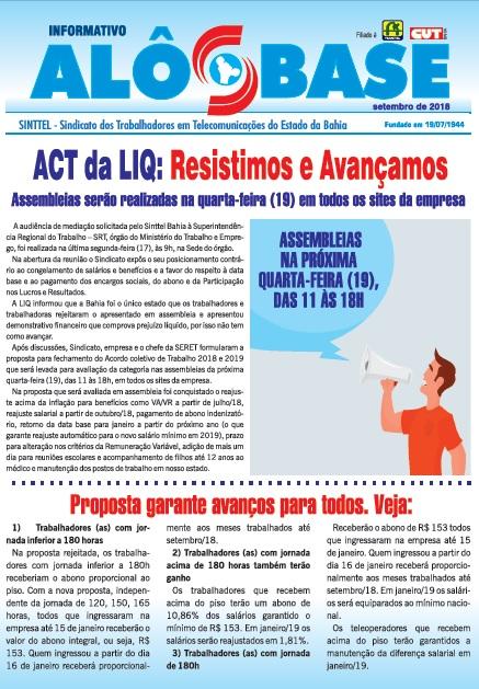 ACT da LIQ: Resistimos e Avançamos